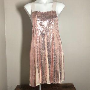Free People pink sequined tunic dress medium